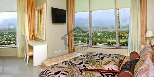 Furnished 2 bed apartment 4 rent in phase 6 Bahria town Rwp