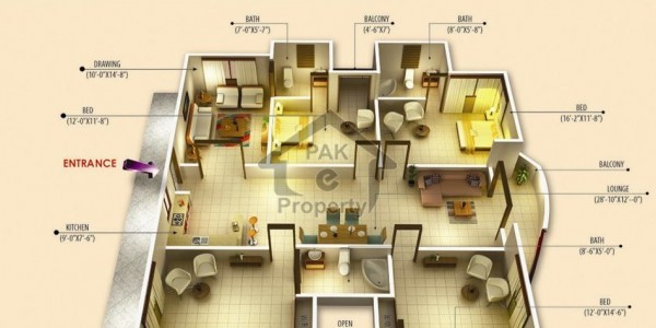 F-11 Beautiful Fully marble flooring 3,bed and study room upper portion available for Rent.