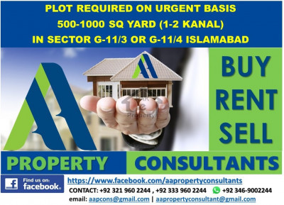 Residential Plots Required