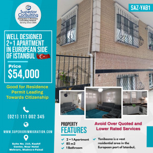 Well Designed 2+1 Apartment in European Side of Istanbul