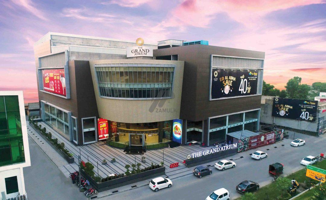 Rented corner shop on sale on installment at Mezzanine floor (above ground) Grand Atrium Faisalabad